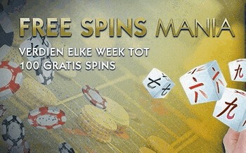 Free Spins Mania bij Golden Palace
