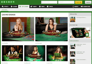 Live Casino Unibet.be
