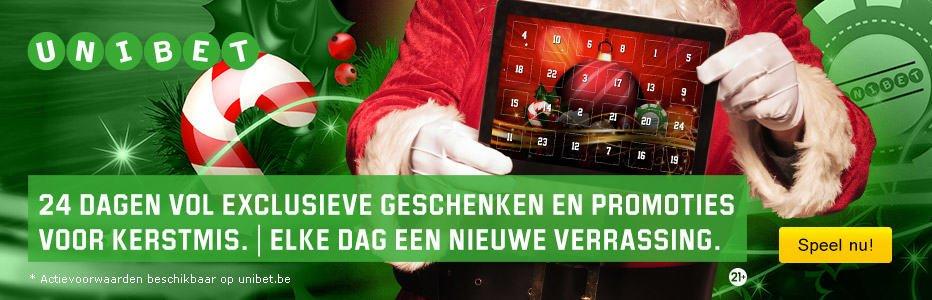 Unibet.be Kerstmis Promotie