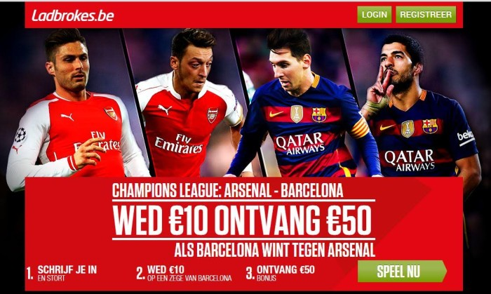 Arsenal vs Barcelona - Ladbrokes.be