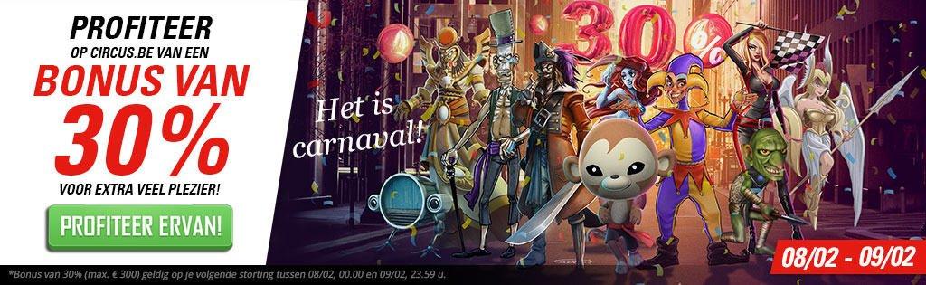 Bonus Carnaval Circus.be