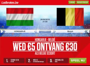 Hongarije vs België - Ladbrokes.be Promo