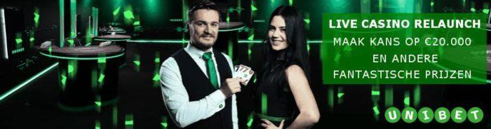 Live Casino Relaunch - Unibet.be