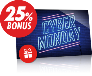 Cybermonday-bonus €250 Circus.be