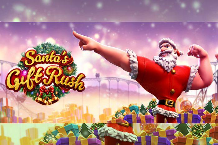 Santa's gift rush Unibet.be Kerst