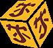 tekening dobbelsteen met chinese tekens