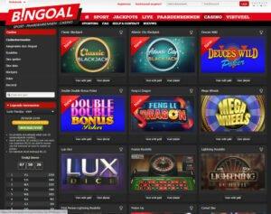 Bingoal Casino homepage