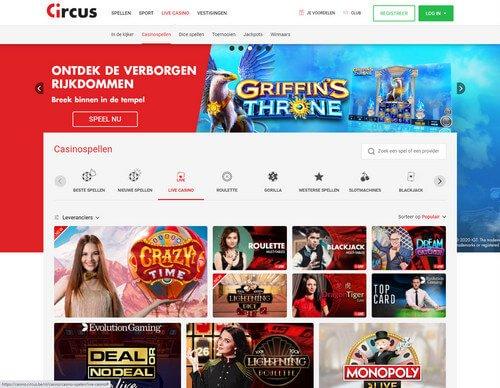 Circus Live Online Casino