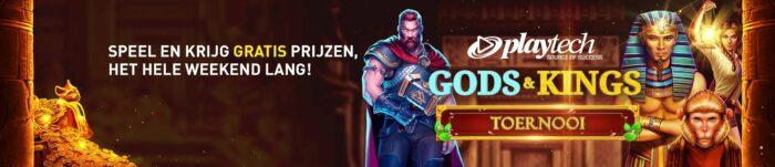 Playtech Casino 777 online Videoslot toernooi Weekend 2020 Gods & Kings