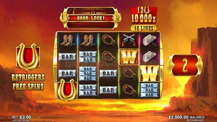 Western Gold Online Topgames casino speelhal