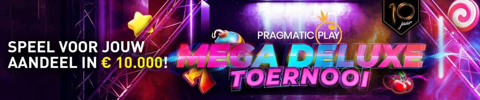 Pragmatic Mega Deluxe toernooi van Casino 777 online speelhal 10e verjaardag Jackpot €10.000 videoslots