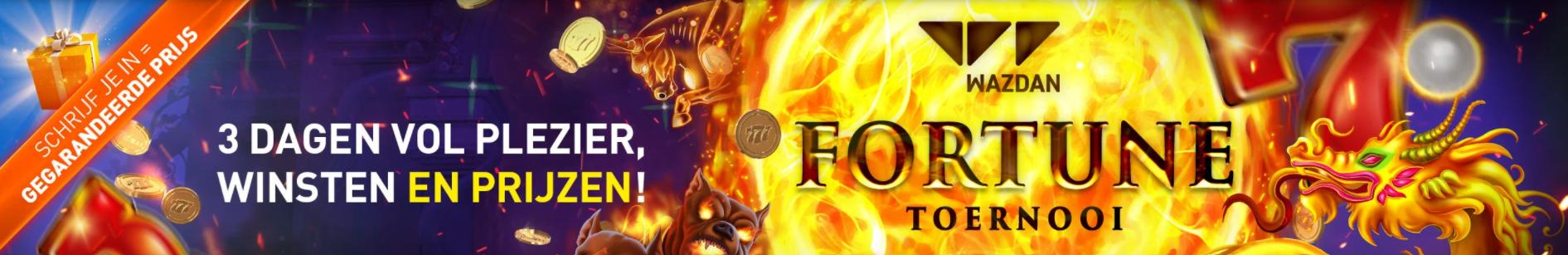Wazdan Fortune toernooi gegarandeerde prijs online Casino 777 speelhal geldkluis tokens videoslot gokkast 2021